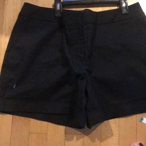Black cuffed shorts